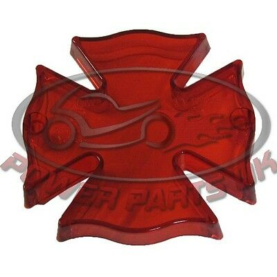 Tailight Lens Fire Maltese Cross With Red
