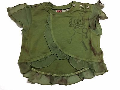 Baby Diesel Girls Toetjeb T-Shirt Designer Infants Top Age 3-24 Months Green