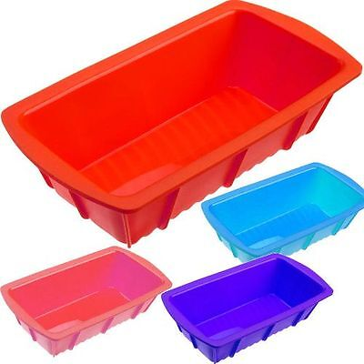 Silicone Bakeware Silicone Mould Loaf Pan Tin 8 X4 Bake Bread Cake Red Blue Pink