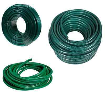 15/30/50 Metre GARDEN HOSE PIPE REEL REINFORCED TOUGH OUTDOOR HOSEPIPE GREEN NEW