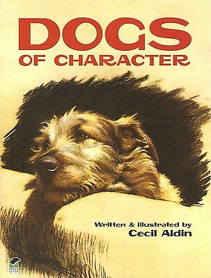 ALDIN CECIL ART & SKETCHES BOOK DOGS OF CHARACTER CARTOONS paperback BARGAIN new