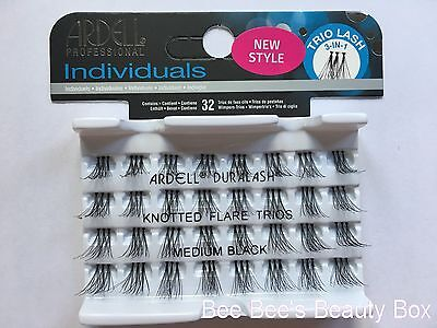 Ardell Professional Duralash Knotted Flare Trios Trio Individual Lashes Black