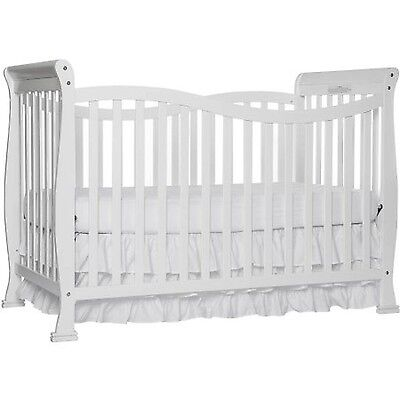 Convertible Baby Crib 7-in-1 Crib Fixed Side Infant Toddler Matrass Nursery Bed
