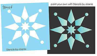 "Sm Stencil 3"" Quilt Block Shape Country Primitive 8 point Star Design Art Signs"