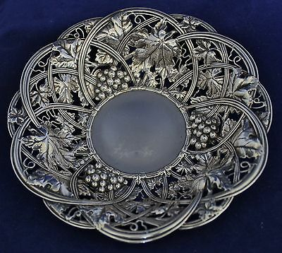 Antique Sterling Silver Whiting Repousse Grapes Bowl 1908 No Mono