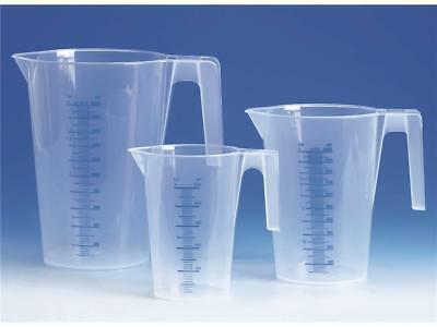 3er Set Messbecher 250, 500, 1000 ml transparent, stapelbar, Frisörbedarf Färben