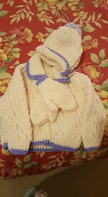 Baby/Childrens knitted aran sets