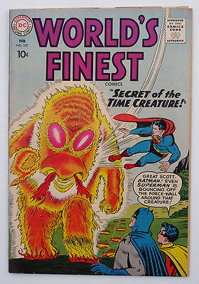 World's Finest Comics #107 1960 DC Batman Robin Superman Swan -C Sprang -art