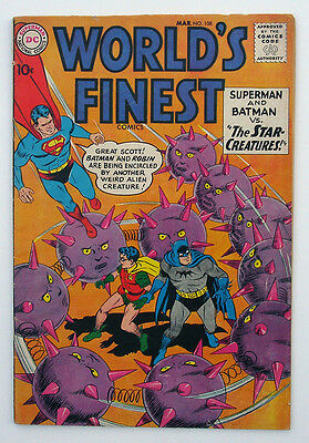 World's Finest Comics #108 1960 DC Batman Robin Superman Swan -C Sprang -art