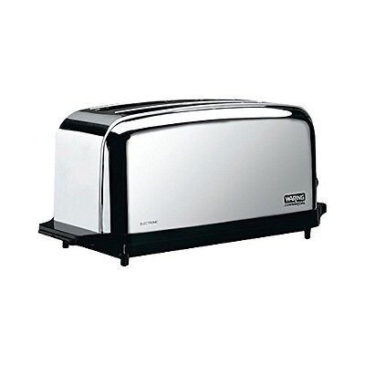 Waring WCT704 Light Duty 120V Extra Long Two-Slot 4 Slice Toaster