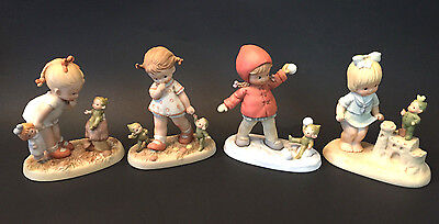 Memories Of Yesterday Lot 4 Figurines~Boo-Boo Pixie Elf~Enesco~Many More Avail!