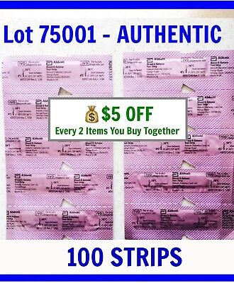 100 Abbott Blood Ketone Test Strips for PRECISION XTRA Meter 04/2020 KETO