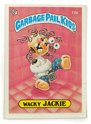 Vintage 80s Garbage Pail Kids Wacky Jackie 17a Series 1 Sticker Trading Card