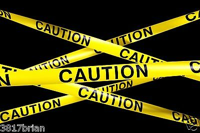 "Safety Tape 3"" X 100' Caution Tape Yellow (U.s.a. Seller) Free Shipping !!!!!!!!"