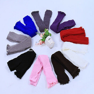 Women Warm Knit Crochet High Knee Leg Warmers Leggings Boot Socks Slouch Fashion