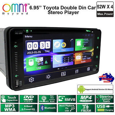 """New Omni Toyota Full Touch Double Din 6.95"""" Bluetooth Usb Dvd Car Stereo Player"""