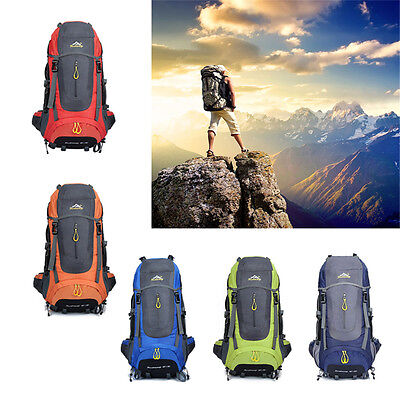70L Waterproof Hiking Camping Travel Mountaineering Outdoor Sport Backpack