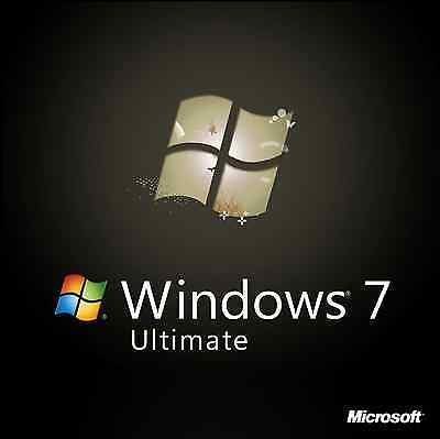 Windows 7 Ultimate 64 bit w/SP1 Install Restore Boot Recovery DVD Disk Disc
