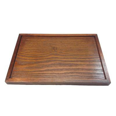 Vintage Japanese Wooden Serving Tray SPA Tea Food Dinner Brown Dish Plate-XL
