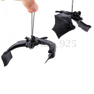 Rubber Funny Props Bat Wall Hanging For Halloween Masquerade Home Decoration