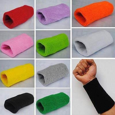 Basketball Unisex Cotton Fitness Sweatband Wristband Protected Wrist Sports 6""