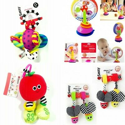 Baby Kids Children Stroller Pram Crib Play Mat Accessories Rattles Sassy Toys