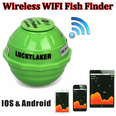 Lucky FF916 50M/130ft Sonar Wireless WIFI Fishing Fish Finder For IOS Android