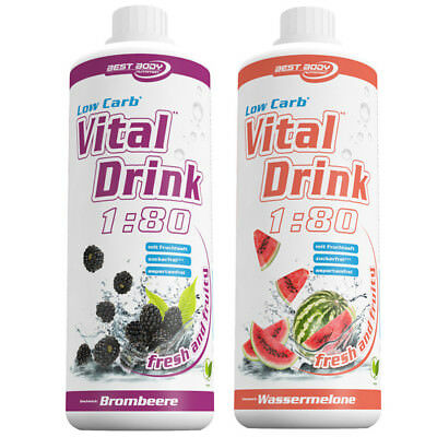 Getränkekonzentrat Sirup Mineraldrink Low Carb 1:80 Vital Drink Nutrition 1000ml