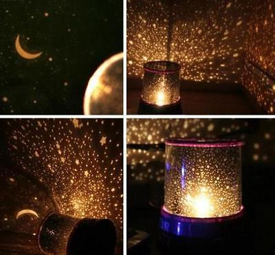 Romantic Auto Rotate LED Sky Star Master Night Light Projector Lamp With Music