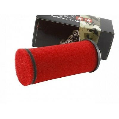 Filtro aria racing Stage6 Evo Type lungo rosso, imbocco 38 mm