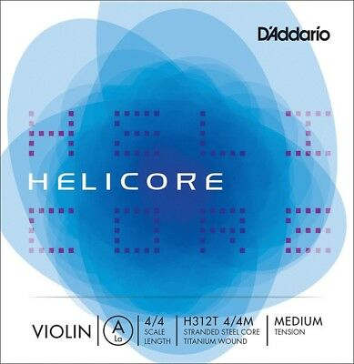 D'Addario H312T 4/4M Helicore 4/4 Scale Medium Violin A String