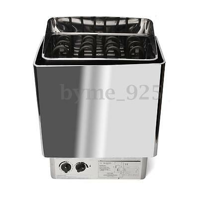 6KW Sauna Heater Stove Kit Wet & Dry Stainless Steel Internal Control Housing