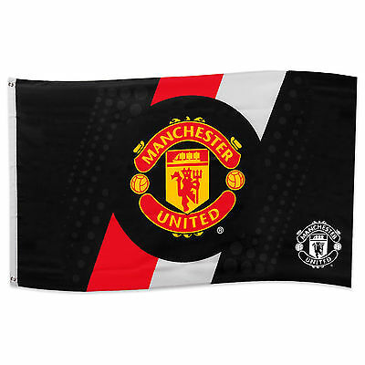 Manchester United FC Official Soccer Gift 5x3ft Striped Body Flag
