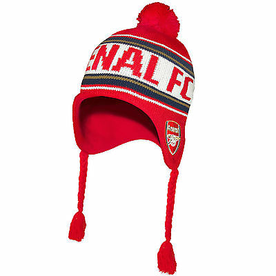 Arsenal FC Official Soccer Gift Adults Knitted Bronx Beanie Heidi Hat Red
