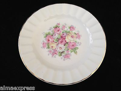 Edwin Knowles China KNO246 246 46 Rose Floral Gold Fluted - TEA CUP SAUCER