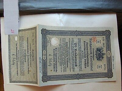3 different. Bond Saxony Agricultural Credit Association 1/1930 Germany uncut!