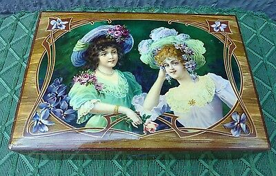 Antique VICTORIAN Sewing Box With Lock & Key Thimble Needle Case Scissors WOW!