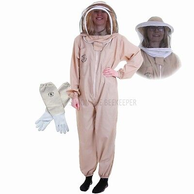 [UK] Buzz Basic Beekeeping Khaki Bee Suit with Veil Duo & Gloves- SELECT SIZE