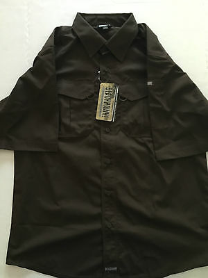 BLACKHAWK! Men's LT2 Short Sleeve Tactical Shirt (Chocolate Brown)
