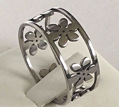 8mm Stainless Steel Silver Plated Mens Wedding Ring Womens Band (Sizes K to W)