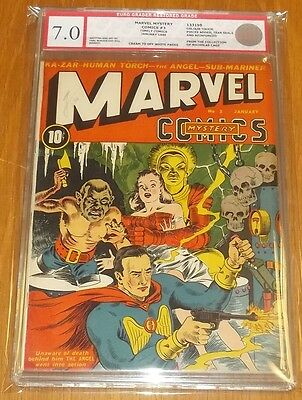 Marvel Mystery Comics #3 Egc Graded Restored ( 7.0 ) Cream Off/w Euro Grader (Sa