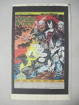 Ghost Rider #30 October 1992 Marvel Comics Printers Proof Copy - Innards Only