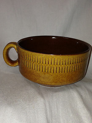 Gabriel Sweden T75 Cup 10 Oz Brown & Tan Scandinavian Pottery
