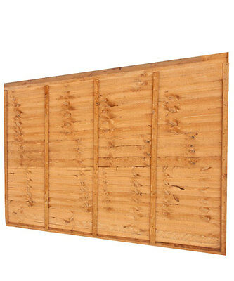Wooden Lap Fence Panels Overlap Waney Fencing Panel 6ft 5ft 4ft 3ft 2ft