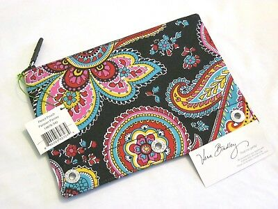 Vera Bradley PARISIAN PAISLEY Pencil PEN Pouch BACKPACK Tote SCHOOL Art BAG  RED