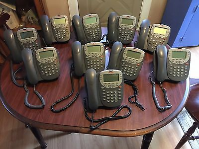 LOT OF 10 AVAYA 5410 DIGITAL DISPLAY PHONE FOR IP OFFICE BUSINESS PHONE Stand !!