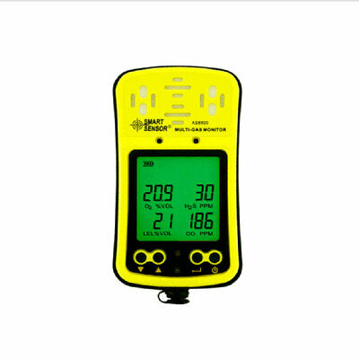 O2 Hydrothion H2S CO2 4 in 1 gas detector portable multi gas analyzer Carbon
