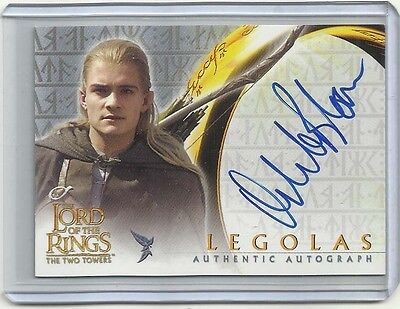 """2002 Lord of the Rings: The Two Towers ORLANDO BLOOM """"Autograph Card"""" LEGOLAS"""
