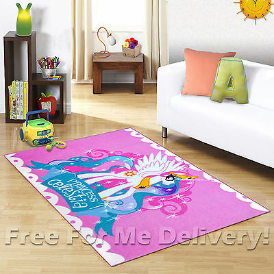 KIDS EXPRESS MY LITTLE PONY FUN FLOOR RUG (XS) 100x150cm **FREE DELIVERY**
