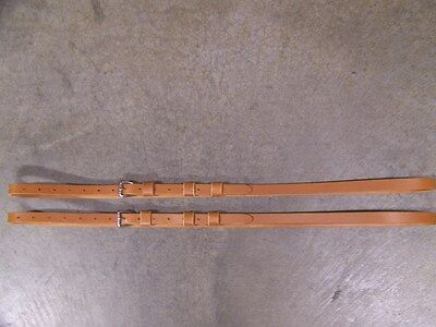 LEATHER LUGGAGE STRAPS for LUGGAGE RACK/CARRIER~~2 SET~3/4 IN. WIDE~HONEY~S.S.